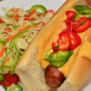 Cheese Veg hot Dog