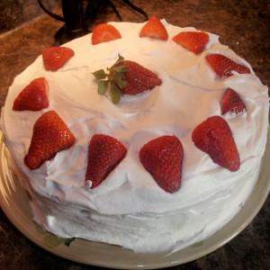Strawberry Fluff Cake